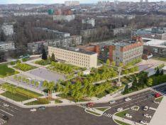 Новая площадь Советская: кукуруза, афиши и мозаичные панно