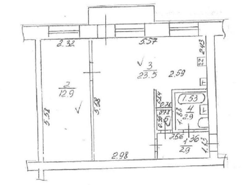 однокомнатная квартира на улице Грибоедова дом 18 город Дзержинск