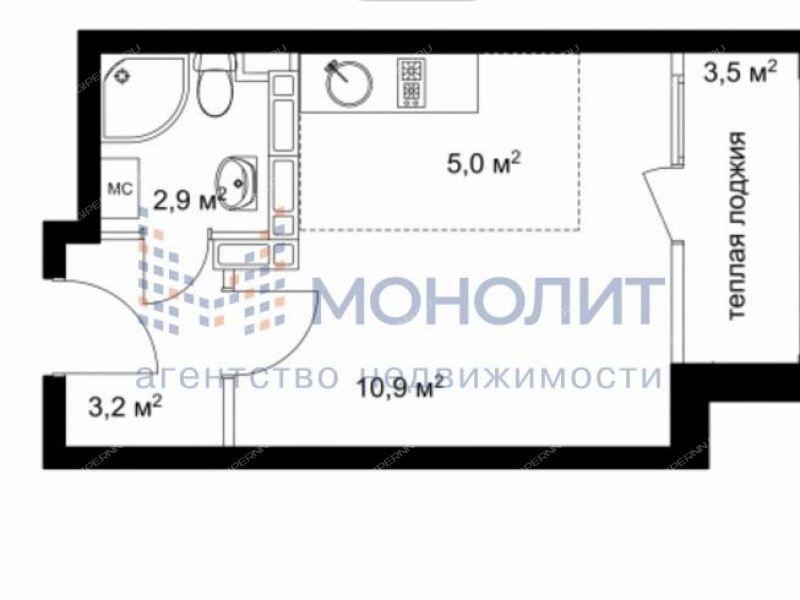 однокомнатная квартира на улице Романтиков