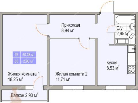 2-komnatnaya-prosp-korablestroiteley фото